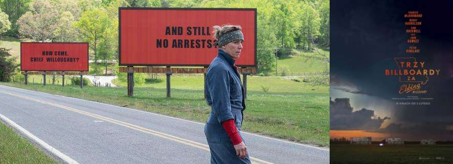 """""""Trzy billboardy za Ebbing, Missouri"""":  Pani żałoba, Pani zemsta."""