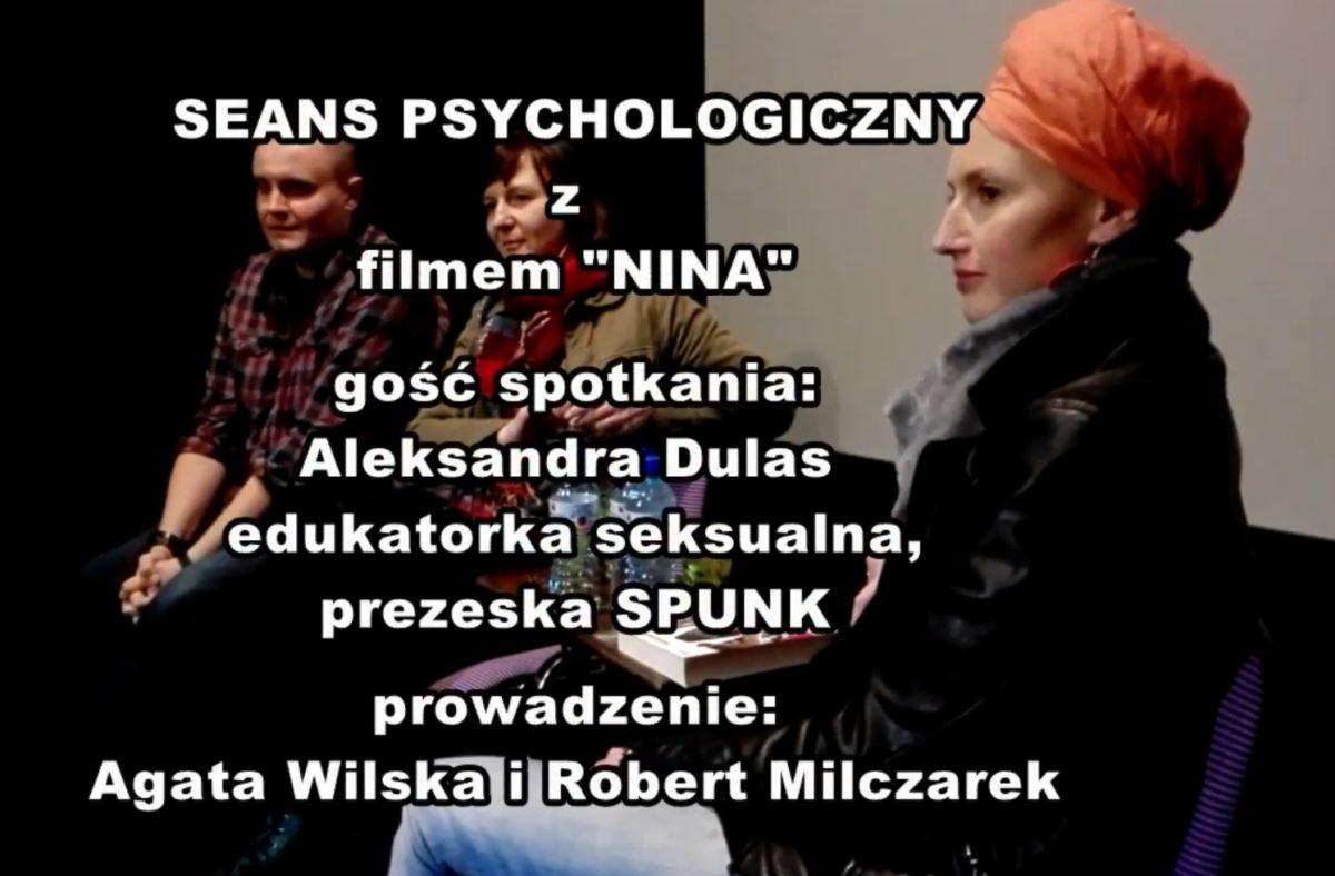 """Psychologia filmu """"Nina"""" Olgi Chajdas w rozmowie na Seansie Psychologicznym w kinie BODO"""