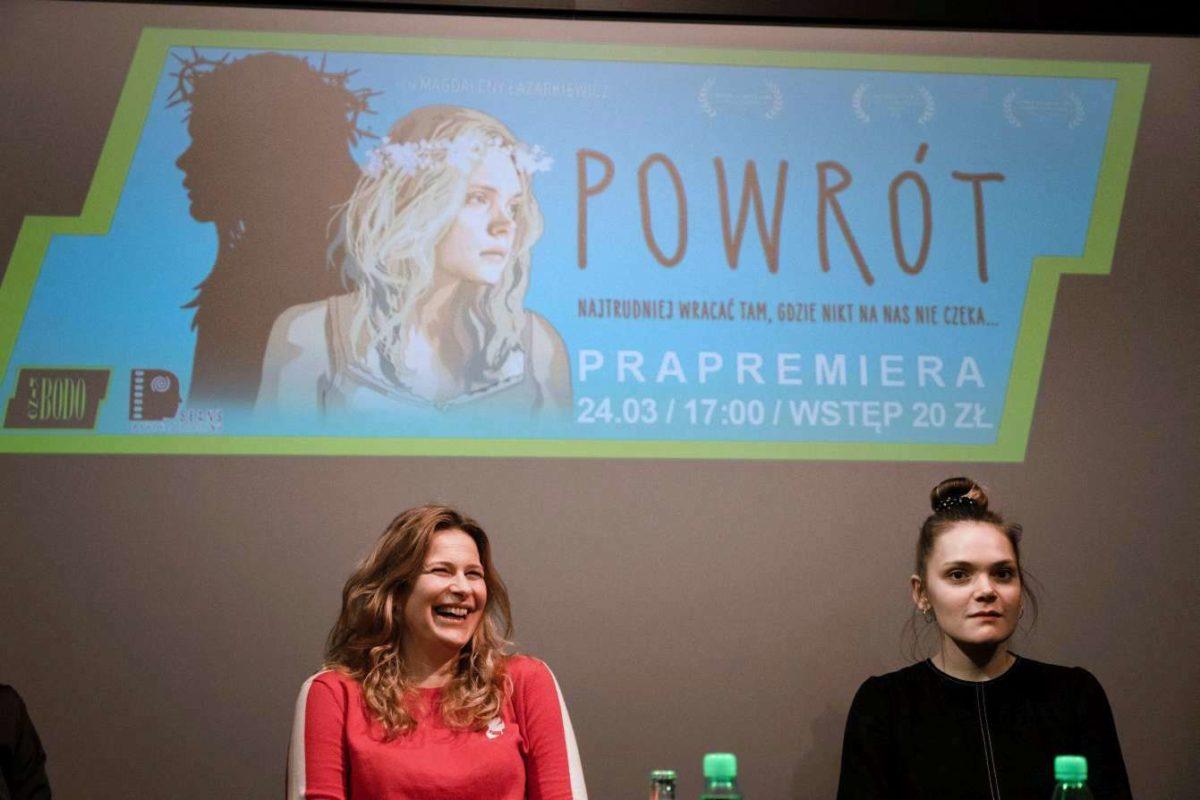 """Fotorelacja z pokazu przedpremierowego filmu """"Powrót"""" Magdaleny Łazarkiewicz w kinie Bodo w Łodzi"""